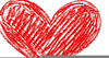 Heart Scribble Clipart Image
