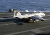 An Ea-6b Prowler Assigned To The  Shadow Hawks  Of Electronic Attack Squadron One Forty One (vaq-141) Lands On The Flight Deck Aboard The Aircraft Carrier Uss Theodore Roosevelt (cvn 71) Image