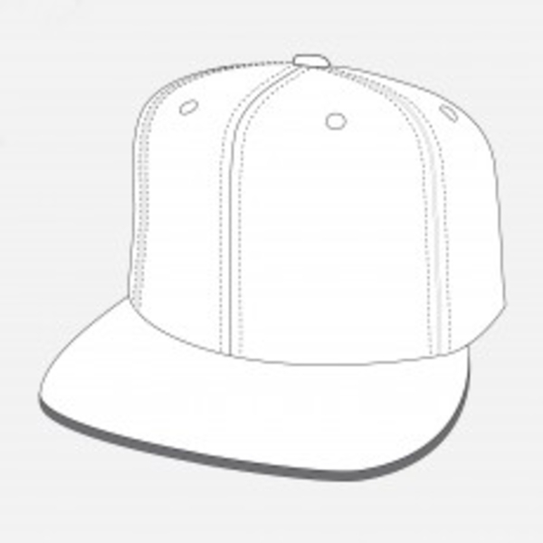 Fitted Flat Peak Cap X Free Images At Clker Com Vector