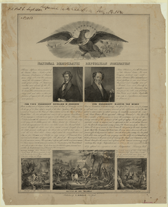 National Democratic Republican Nomination  / Lith. Of Endicott, 152 Fulton St., New York. Image