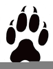 Free Clipart Cat Paw Print Image