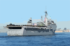 After Leaving Her Berth At Naval Station San Diego, Uss Duluth (lpd 6) Steams Through San Diego Bay On Her Way To Join Elements Of The Uss Tarawa (lha 1) Amphibious Readiness Group (arg) At The Start Of A Scheduled Six-month Deployment. Clip Art