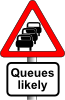 Anonymous Roadsign Queues Clip Art