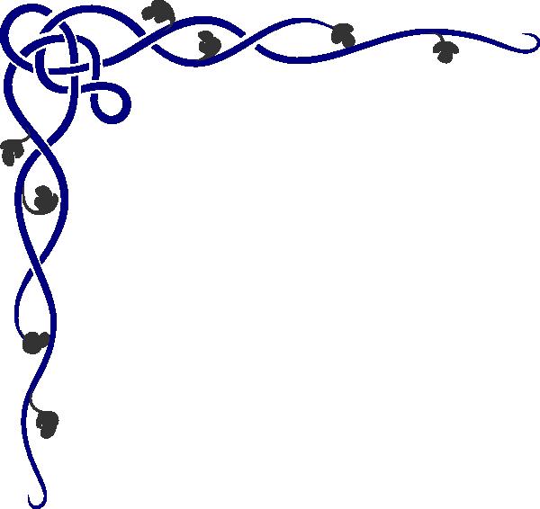 Cobalt border script version clip art at Script art