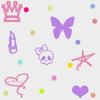 Prince Butterfly Crown Dots Image