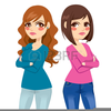 Clipart Of Two Girls Image
