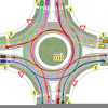 Two Lane Roundabout Image