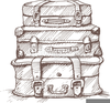 Vintage Luggage Clipart Image