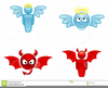Angel And Devil Clipart Free Image