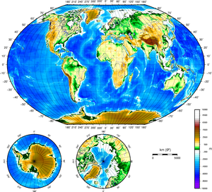 Earths Topographical Map Image