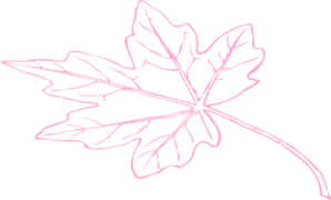 Larger Leaf Lt Pink Clip Art