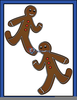 Running Gingerbread Man Clipart Image