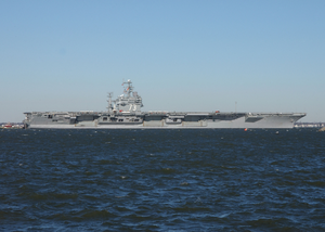 Uss George Washington (cvn 73) Departs Naval Station Norfolk, Va. On A Regularly Scheduled Deployment In Support Of The Global War On Terrorism. Image