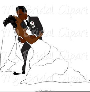 Free African American Bride And Groom Clipart Image