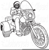 Free Motorcycle Clipart Black And White Image