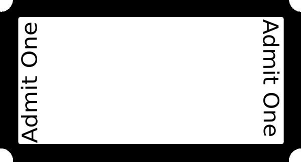Blank Ticket On Full Size Paper Clip Art at Clker.com - vector clip ...