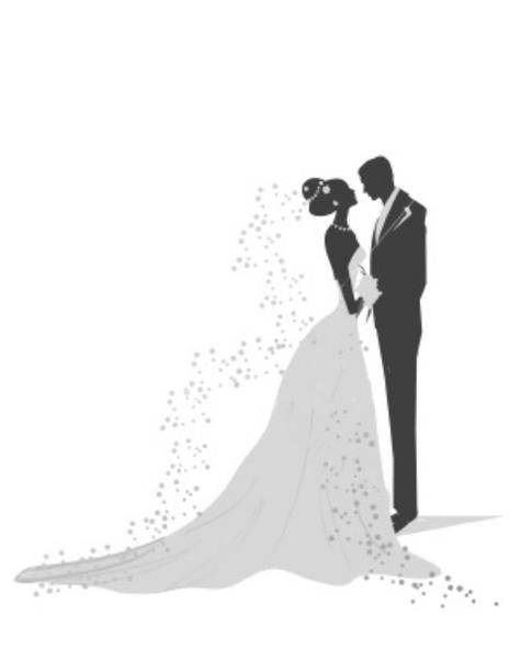 Rehearsal Wedding Dress Clip Art