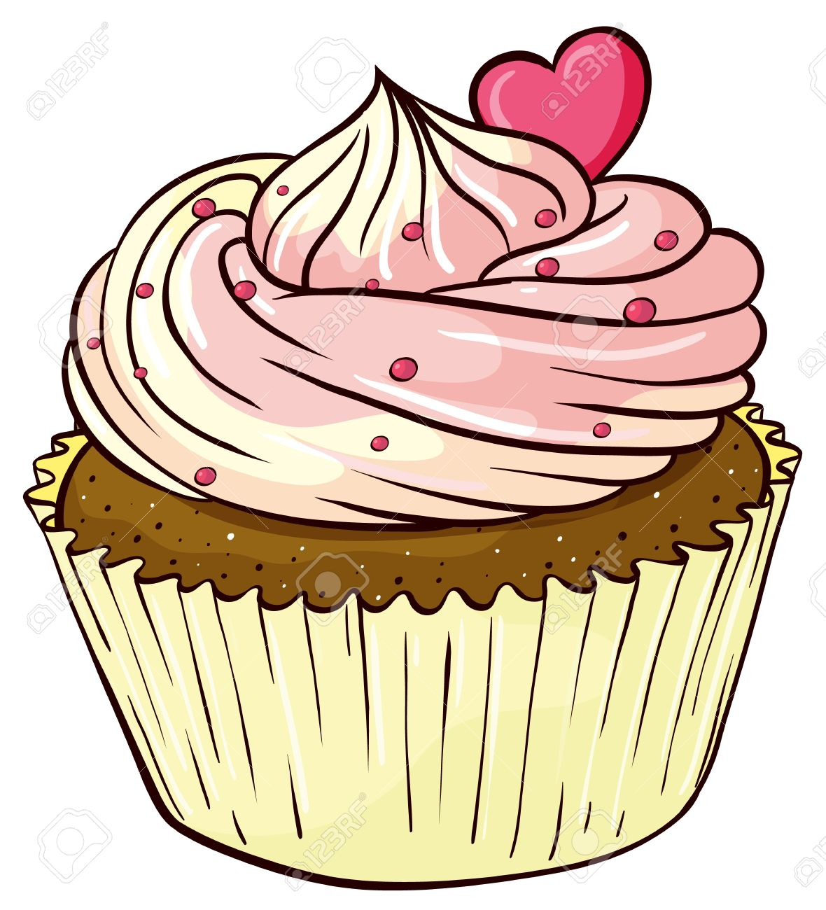Cupcake Animated Images : Illustration Of An Isolated Cupcake Stock Vector Cupcakes ...