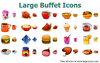 Large Buffet Icons Image
