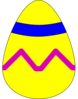 Easter Egg Yellow Clip Art