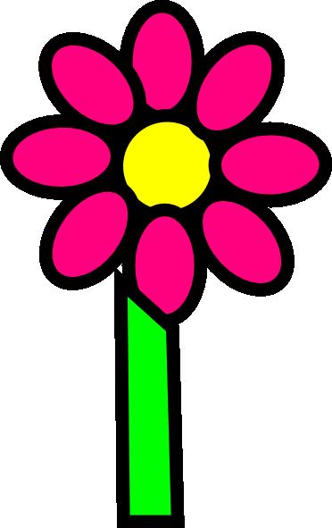 Pink Flower With Stem Clip Art at Clker.com - vector clip ...