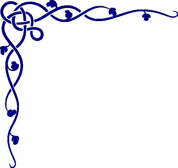 Royal Blue Celtic Corner Clip Art At Clker Com Vector