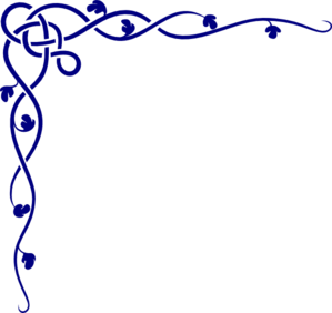Royal Blue Celtic Corner Clip Art