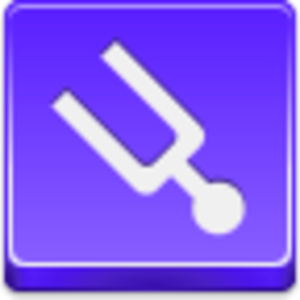 Free Violet Button Tuning Fork Image