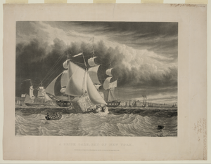 A Brisk Gale, Bay Of New York Image