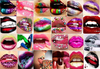 Colorful Lips Collage Image