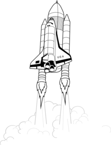 Shuttle Takeoff Clip Art