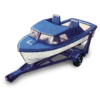 Boat And Trailer Icon Image