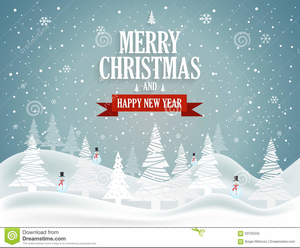 merry christmas happy new year banner clipart image