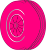 Pink Wheel Darker Stroke Clip Art