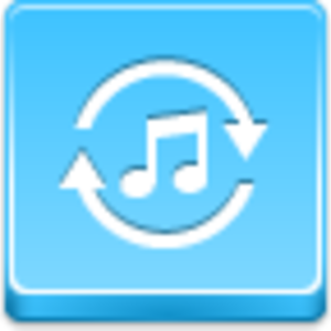 Free Blue Button Icons Music Converter Image
