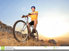 Person Riding A Bike Clipart Image