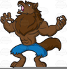Angry Wolf Clipart Image