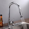 Chrome Finish Contemporary Pull Down Kitchen Faucet--faucetsuperdeal.com Image