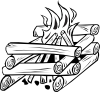 Campfires And Cooking Cranes 24 Clip Art