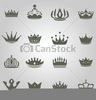 Clipart Of King And Queen Crowns Image