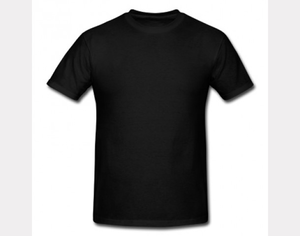Plain Blank T Shirts Black Image