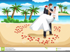 Beach Bride And Groom Clipart Image