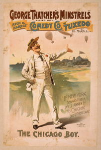 George Thatcher S Minstrels Allied With Rich & Harris  Comedy Co. In Tuxedo By Ed. Marble Image