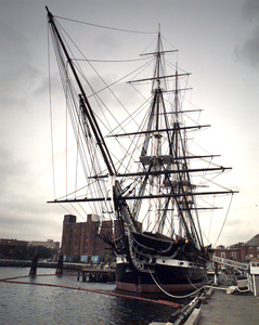 The U.s. Navy S Sailing Ship Uss Constitution, The World S Oldest Commissioned Warship, Will Celebrate Her 199th Anniversary On October 21st, 1996 Image