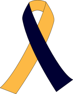 First Blue Second Yellow Ribbon Clip Art