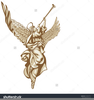 Angel With Trumpet Clipart Image