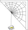 Spider Web At Corner Clip Art
