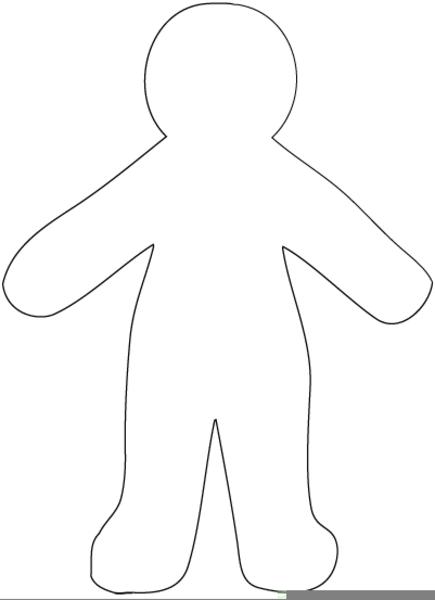 Doll Outline Picture   Free Images at Clker.com - vector ...  Doll Outline Pi...