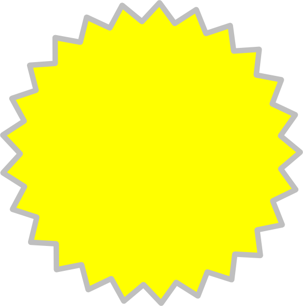 yellow starburst clipart - photo #11