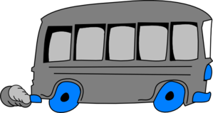Gray School Bus Clip Art